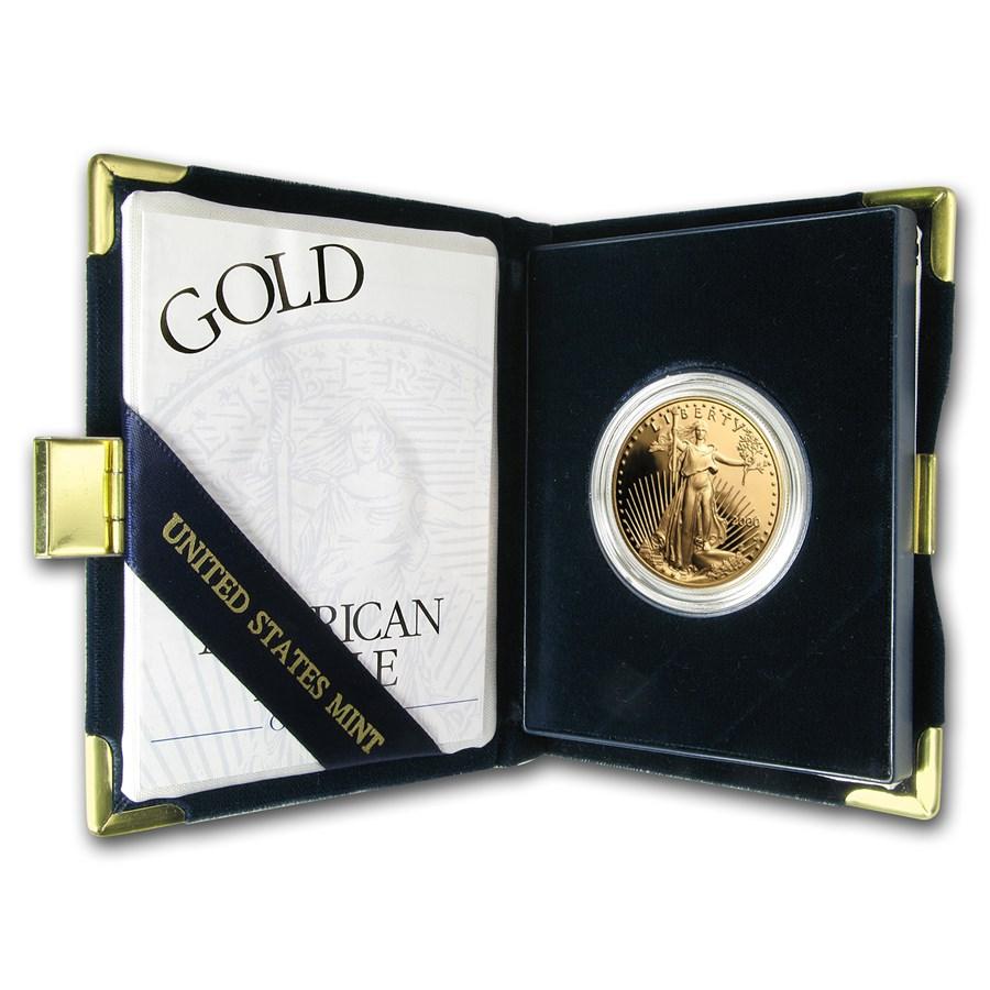 2000-W 1 oz Proof American Gold Eagle (w/Box & COA)