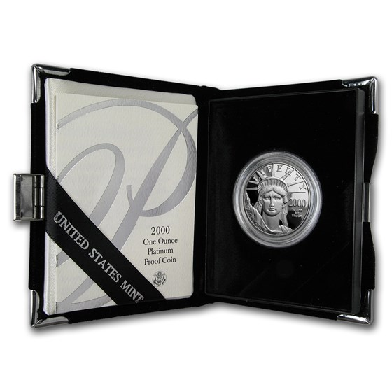 2000-W 1 oz Proof American Platinum Eagle (w/Box & COA)