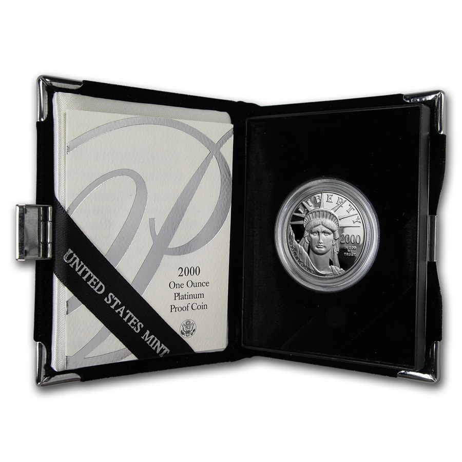2000-W 1 oz Proof Platinum American Eagle (w/Box & COA)