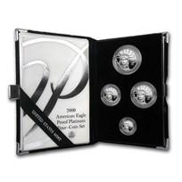 2000-W 4-Coin Proof American Platinum Eagle Set (w/Box & COA)