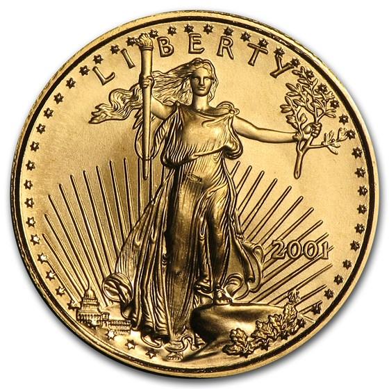 2001 1/10 oz American Gold Eagle BU