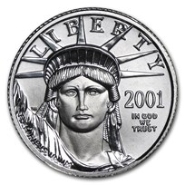 2001 1/10 oz American Platinum Eagle BU
