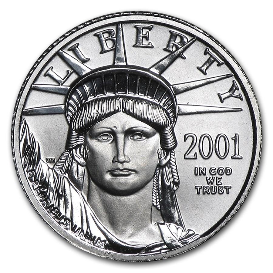 2001 1/10 oz American Platinum Eagle BU