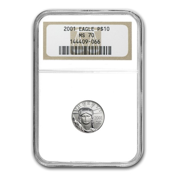 2001 1/10 oz American Platinum Eagle MS-70 NGC