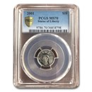 2001 1/10 oz American Platinum Eagle MS-70 PCGS