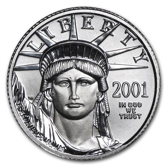 2001 1/10 oz Platinum American Eagle BU