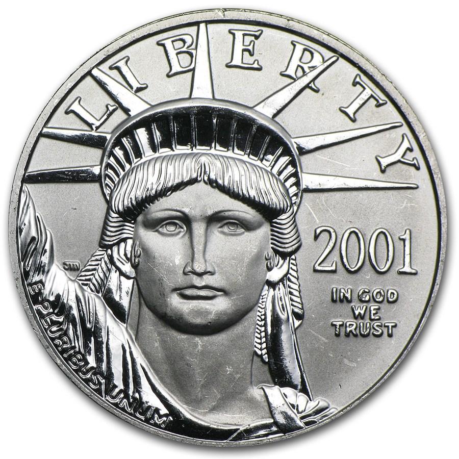 2001 1/2 oz American Platinum Eagle BU