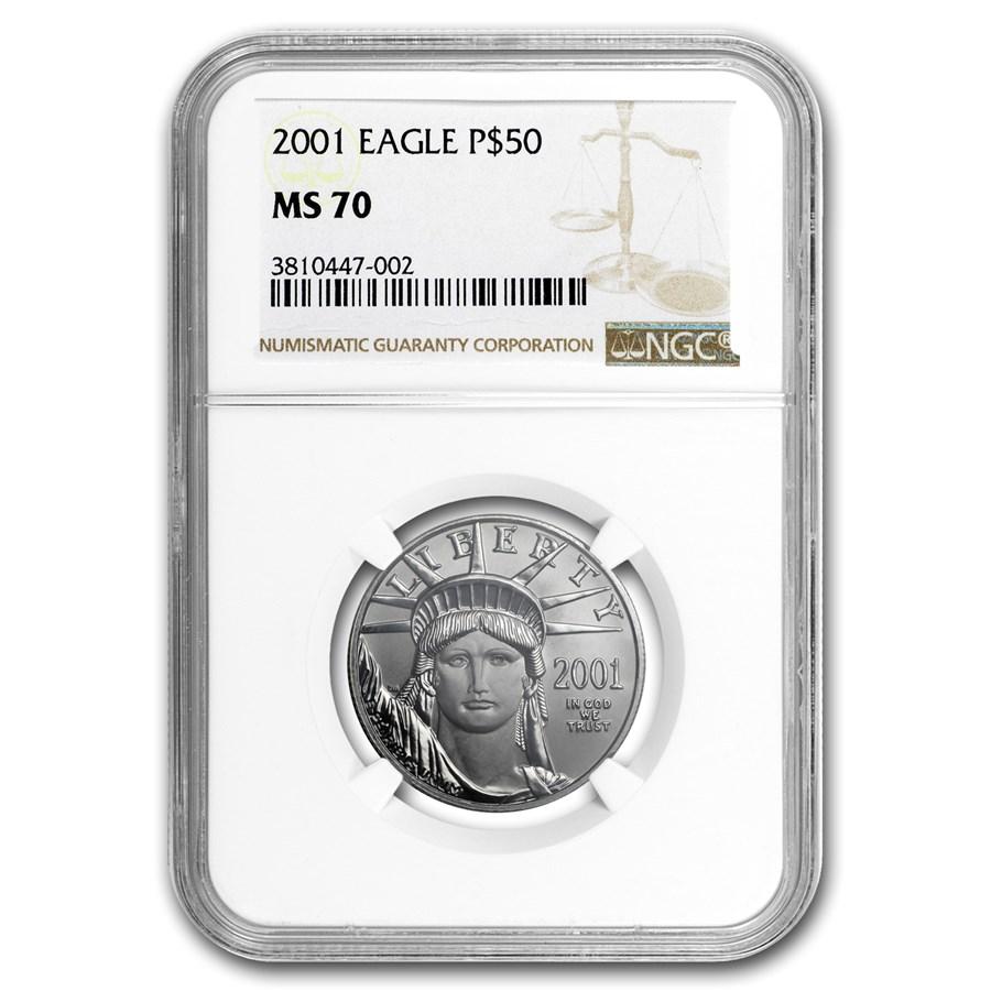 2001 1/2 oz American Platinum Eagle MS-70 NGC