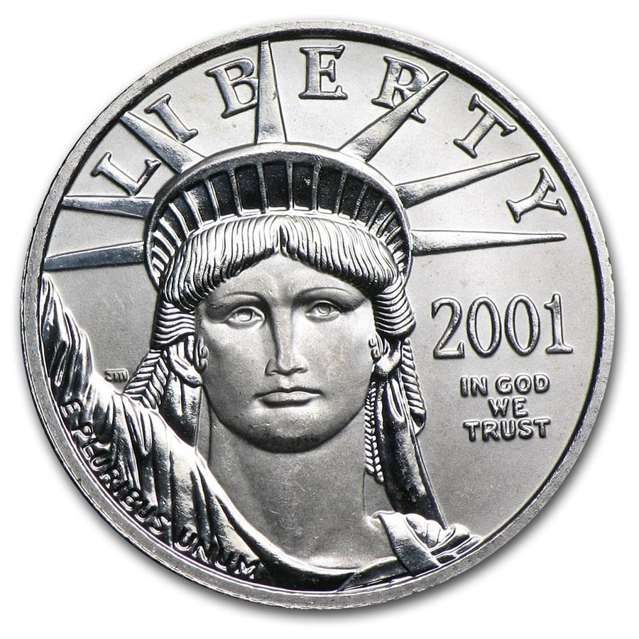 2001 1/4 oz American Platinum Eagle BU