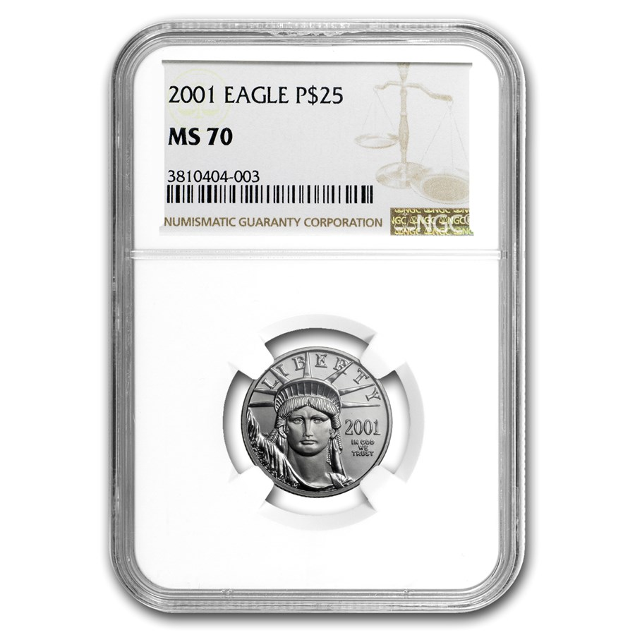2001 1/4 oz Platinum American Eagle MS-70 NGC