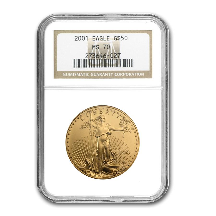 2001 1 oz American Gold Eagle MS-70 NGC