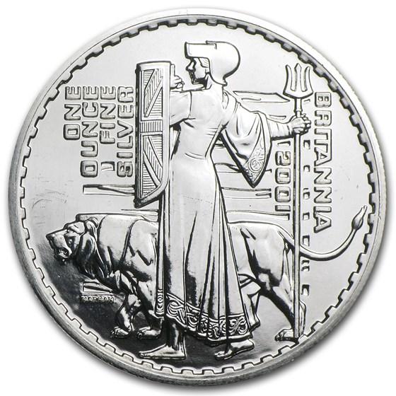 2001 1 oz Silver Britannia (Abrasions)