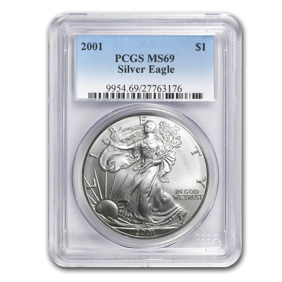 2001 American Silver Eagle MS-69 PCGS