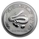 2001 Australia 1 kilo Silver Year of the Snake BU