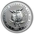 2001 Australia 1 oz Silver Kookaburra BU