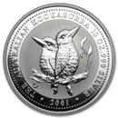 2001 Australia 10 oz Silver Kookaburra BU