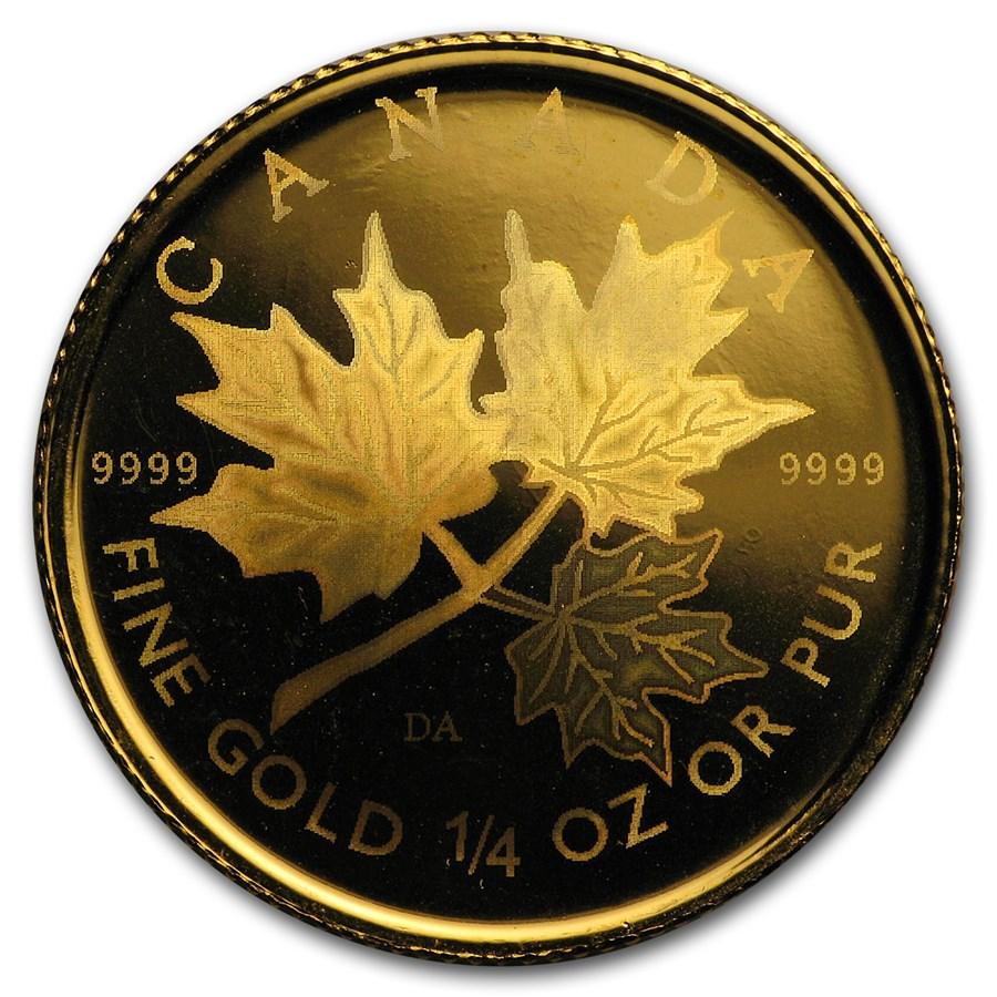 2001 Canada 1/4 oz Gold Maple Leaf BU (Hologram)