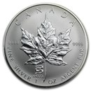2001 Canada 1 oz Silver Maple Leaf Lunar Snake Privy