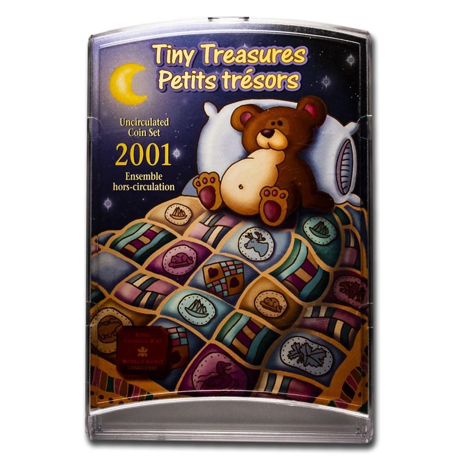 2001 Canada 7-Coin Tiny Treasures Set BU (Original pkg)