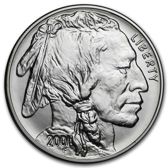 2001-D Buffalo $1 Silver Commem BU (w/Box & COA)