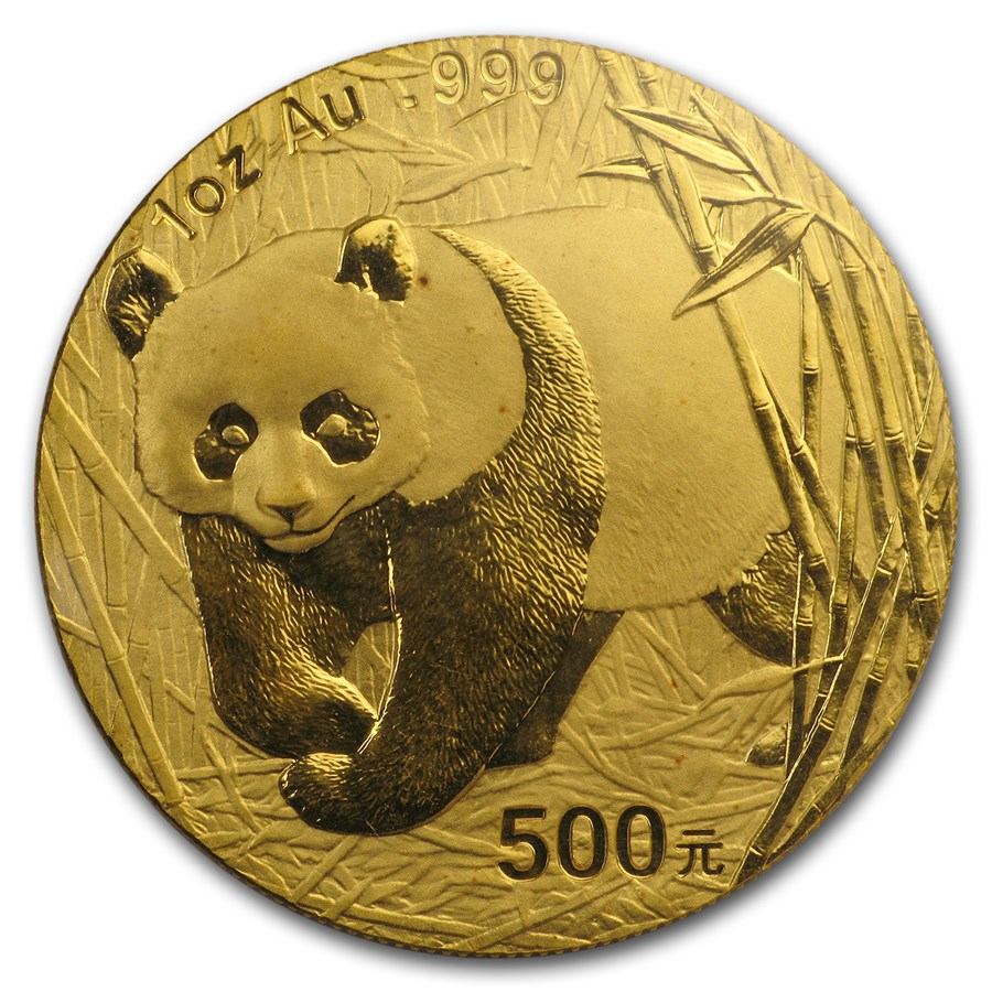2001-D China 1 oz Gold Panda BU (Sealed)