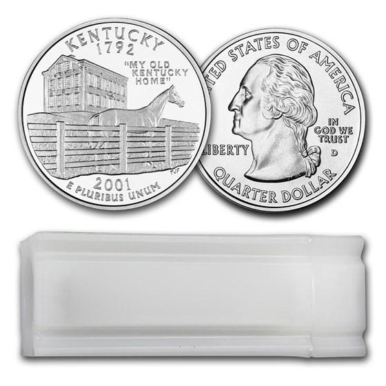 2001-D Kentucky Statehood Quarter 40-Coin Roll BU