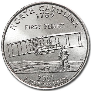 2001-D North Carolina State Quarter BU