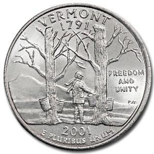 2001-D Vermont State Quarter BU