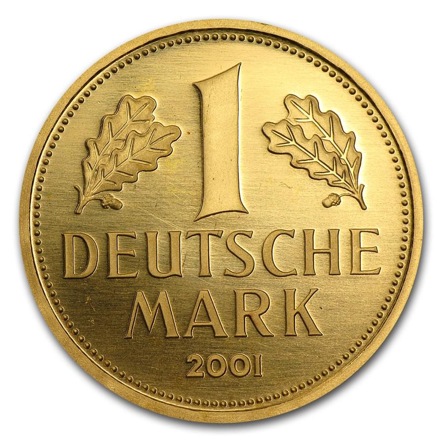 2001 Germany Gold 1 DM Farewell to the Deutsche Mark BU