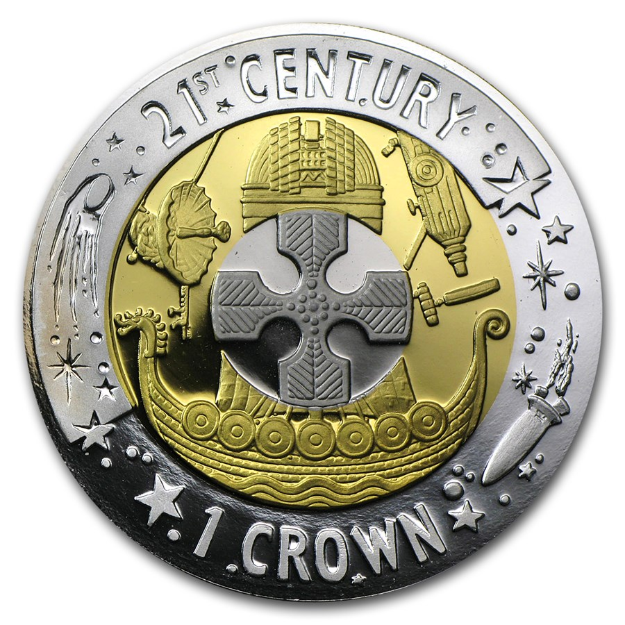 2001 Gibraltar Proof Tri-Metal Crown