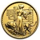 2001 Great Britain 1/2 oz Gold Britannia BU