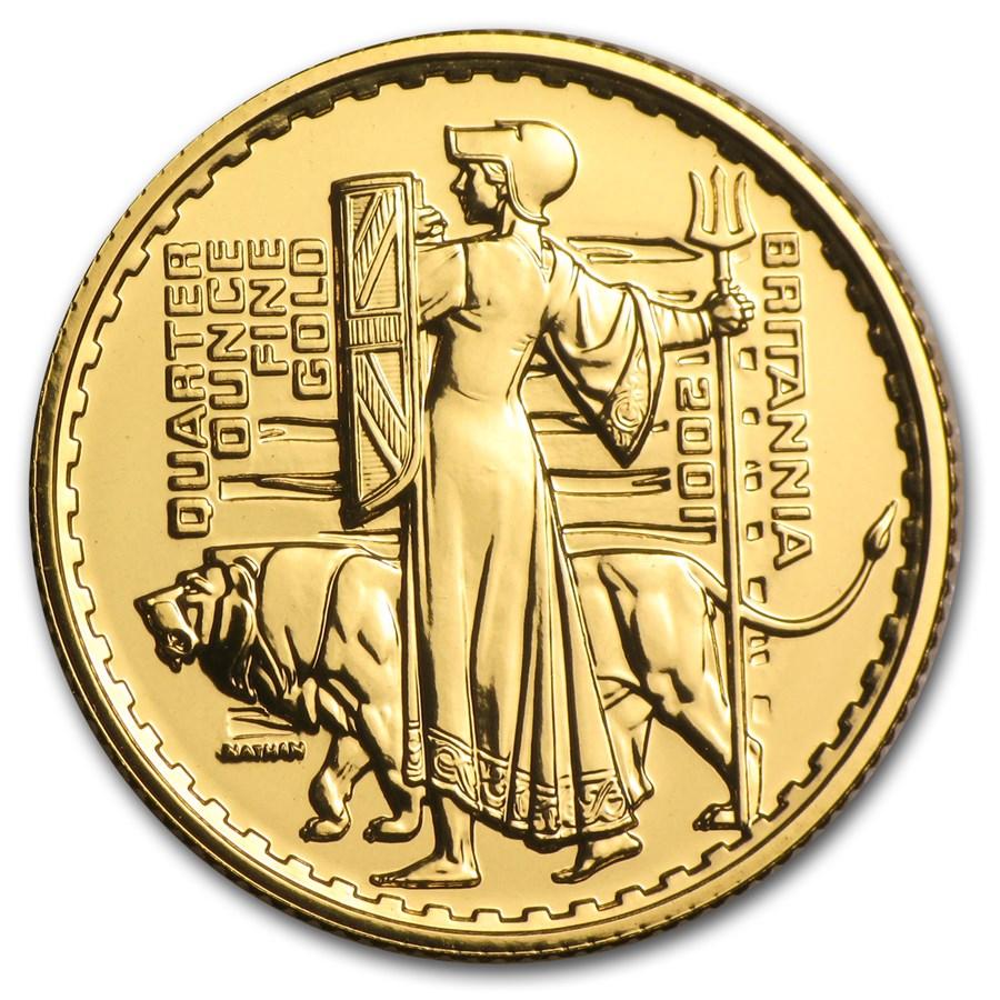 2001 Great Britain 1/4 oz Gold Britannia BU