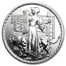2001 Great Britain 1 oz Silver Britannia BU