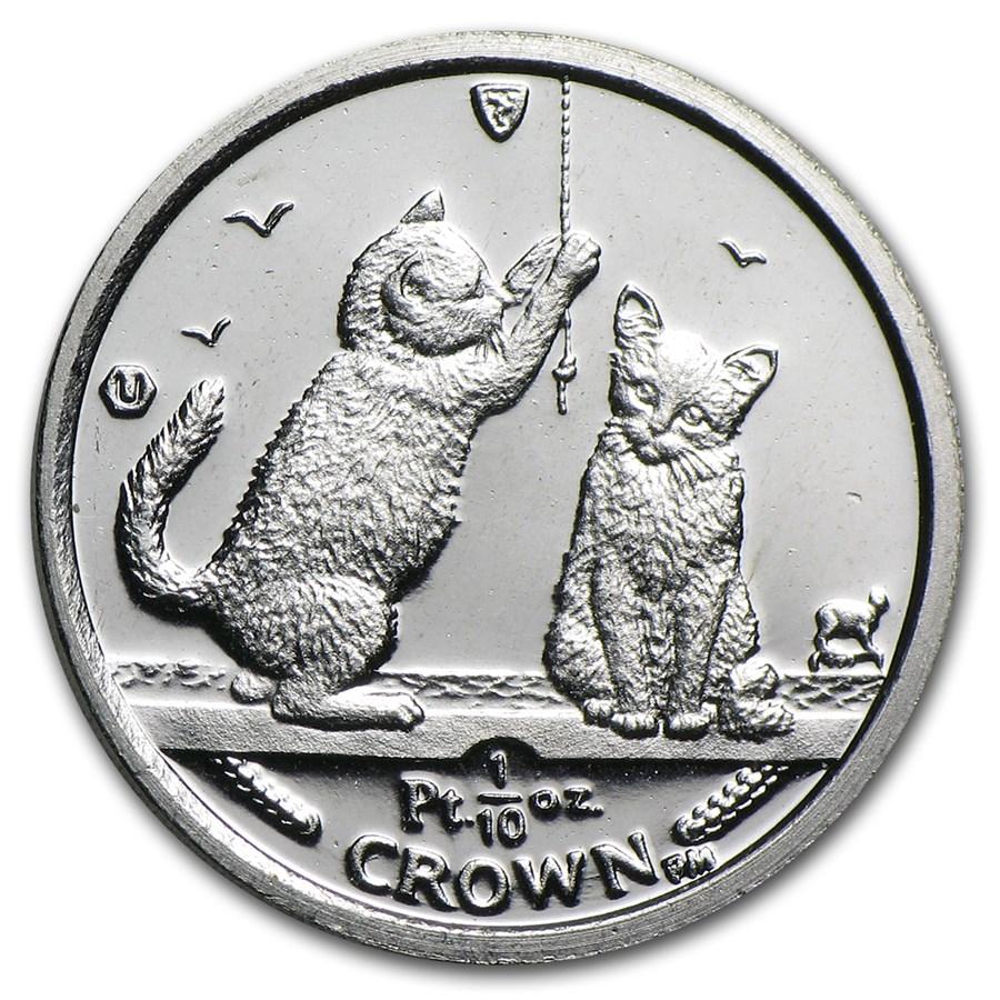 2001 Isle of Man 1/10 oz Platinum Persian Cat