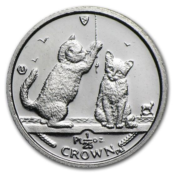 2001 Isle of Man 1/25 oz Platinum Persian Cat