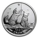 2001 Isle of Man 1 oz Silver Somali Kittens Proof