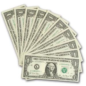2001 (L-San Francisco) $1.00 FRN CU (10 Notes)