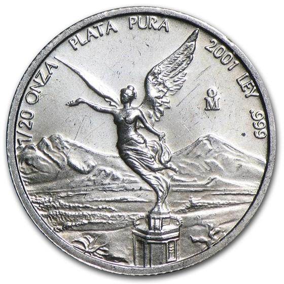 2001 Mexico 1/20 oz Silver Libertad BU