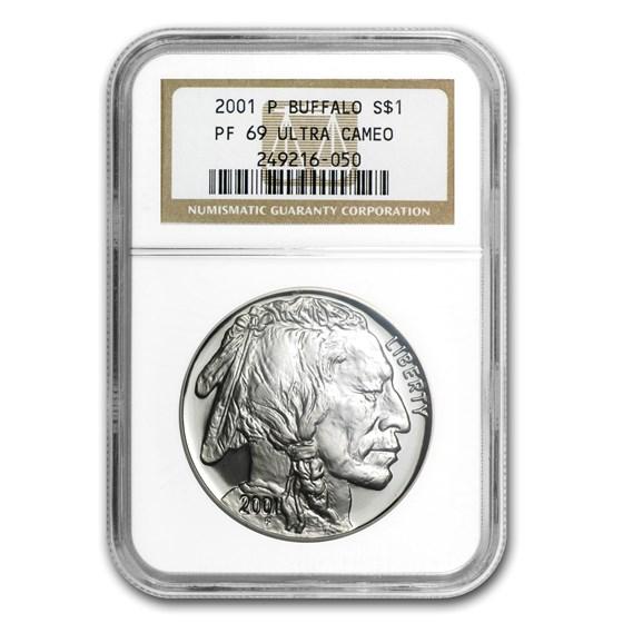 2001-P Buffalo $1 Silver Commem PF-69 NGC