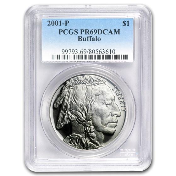 2001-P Buffalo $1 Silver Commem PR-69 PCGS