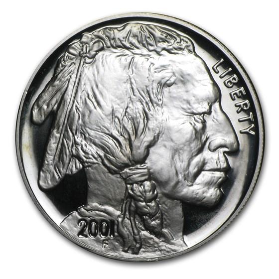 2001-P Buffalo $1 Silver Commem Proof (w/Box & COA)
