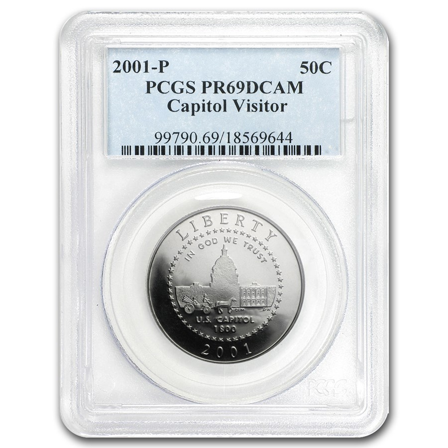 2001-P Capitol Visitor Center 1/2 Dollar Clad Commem PR-69 PCGS