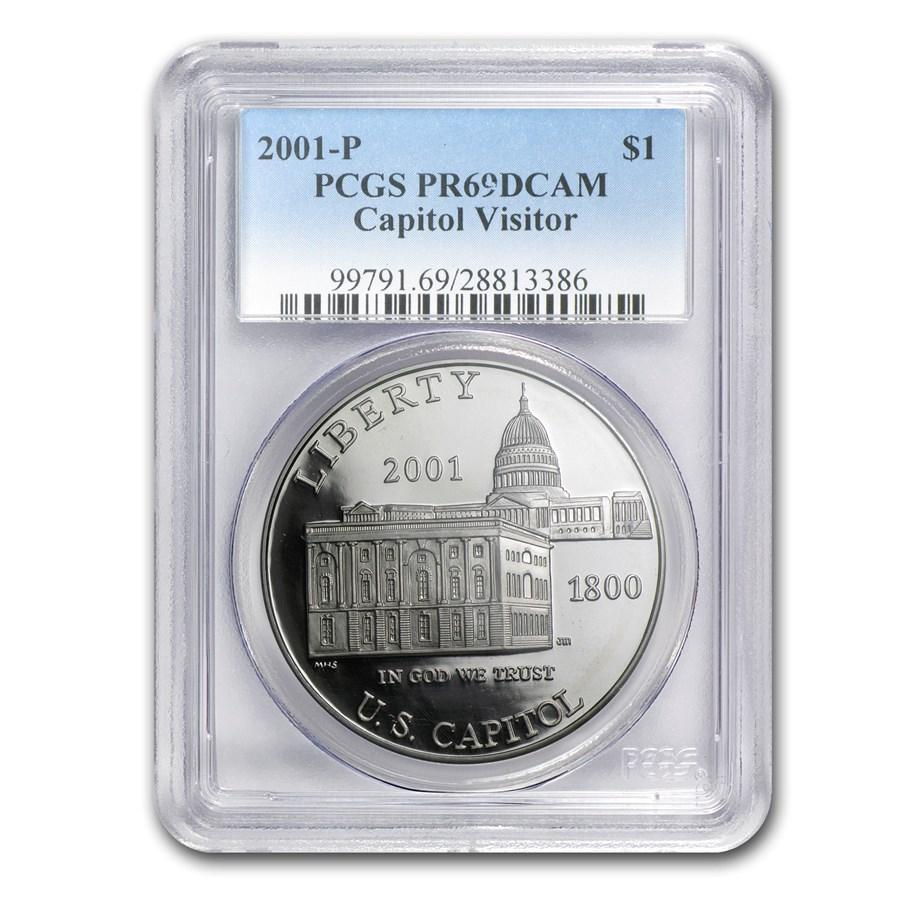 2001-P Capitol Visitor Center $1 Silver Commem PR-69 PCGS