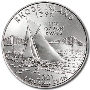 2001-P Rhode Island State Quarter BU