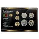 2001 Portugal Pre-Euro 7-Coin Set BU