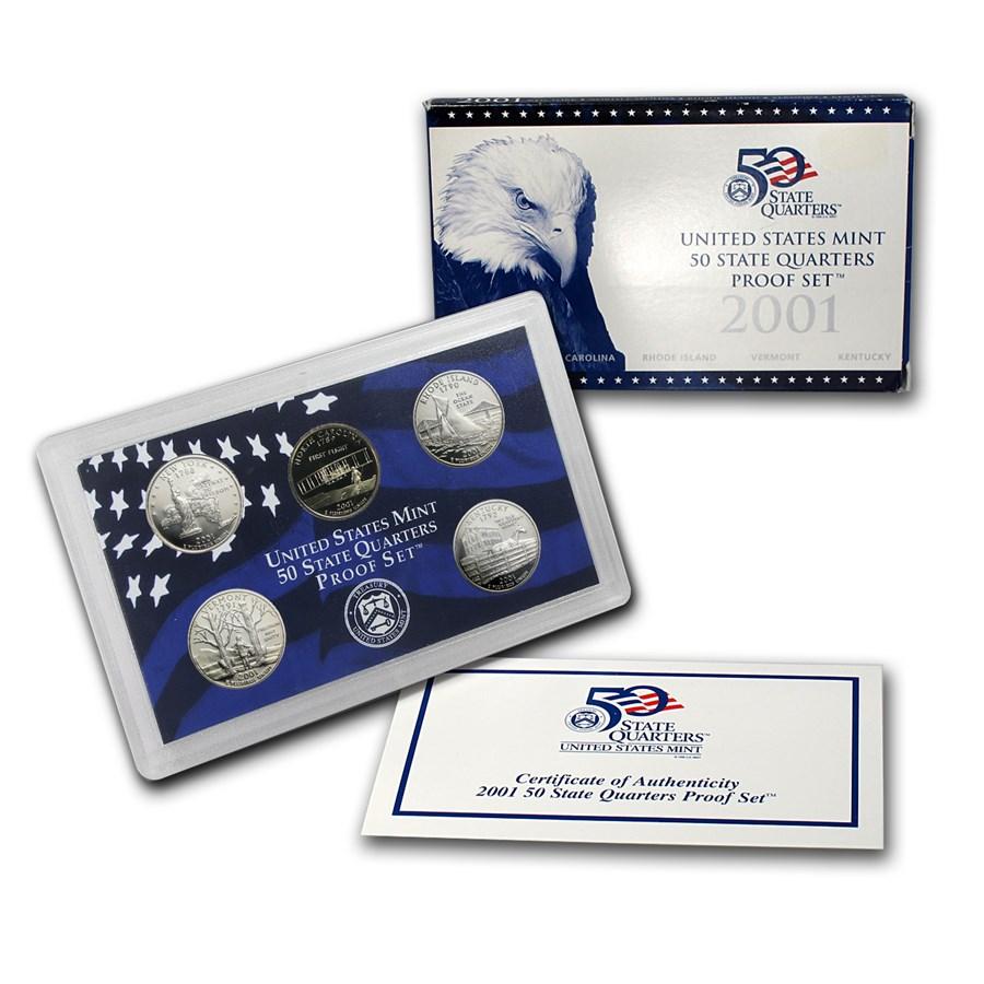 2001-S 50 State Quarters Proof Set