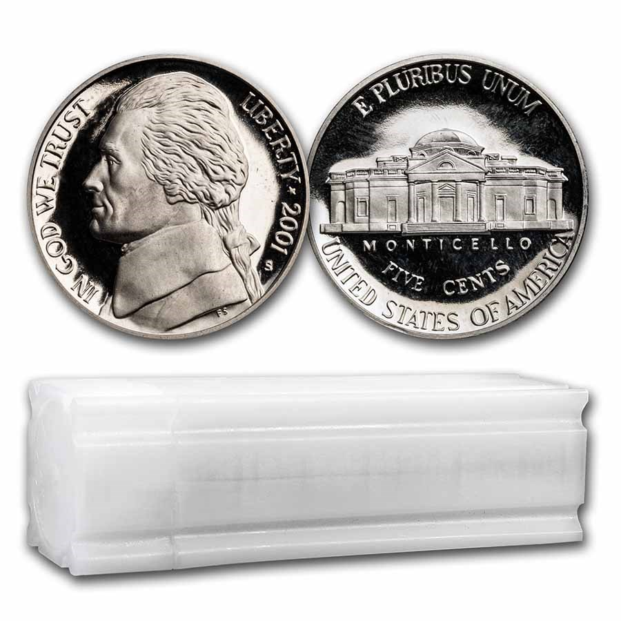 2001-S Jefferson Nickel 40-Coin Roll Proof