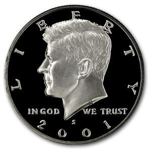 2001-S Kennedy Half Dollar Gem Proof