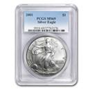 2001 Silver American Eagle MS-69 PCGS