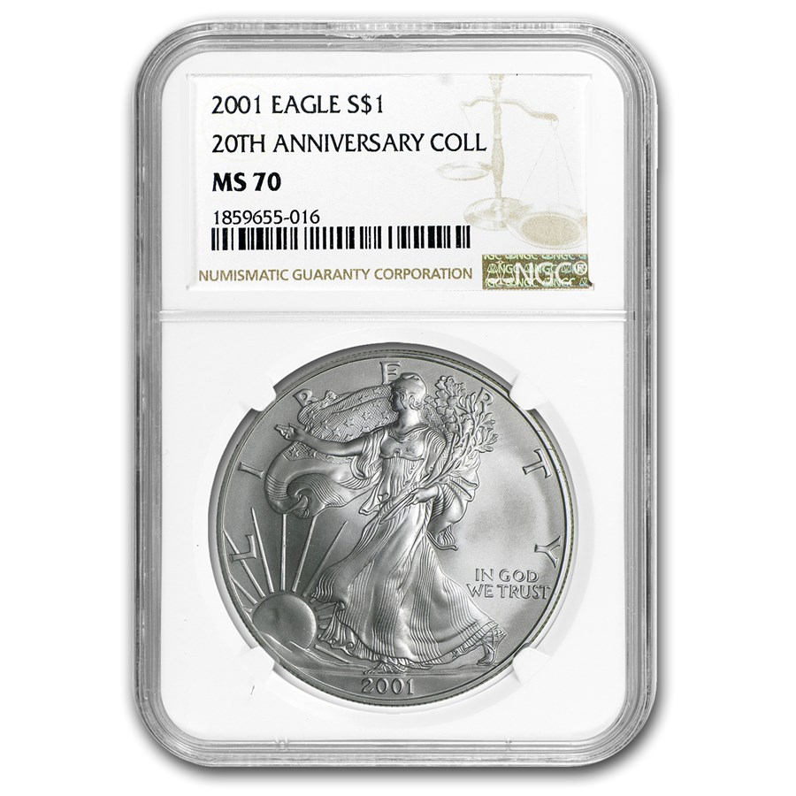 2001 Silver American Eagle MS-70 NGC